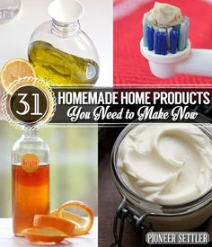 31 Homemade Home Products You Need to Make Now | DIY Natural Recipes For Skin And For Your Household | Self Sufficiency And Homesteading Ideas by Pioneer Settler at http://pioneersettler.com/31-diy-home-products-you-need-to-make-now/