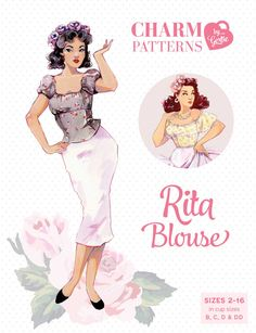 Vintage sewing patterns by international sewing starlet Gretchen Hirsch. Available for purchase online here, downloaded or posted.