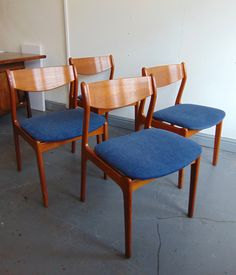 Vintage Danish Teak Seat of Four Dining Chairs By P E  Jorgensen For Farso  Stolefabrik  Restored   Re Upholstered In Navy Blue FabricKai Kristiansen Danish dining chairs Mustard Vintage ebay shop  . Moller Chair Ebay Uk. Home Design Ideas