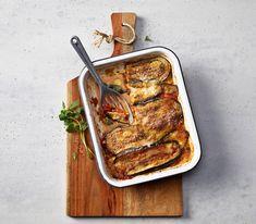 Der Auberginenauflauf eignet sich als gut vorzubereitende Vorspeise, schmeckt aber auch als Hauptgericht oder Beilage zu Grilladen wunderbar.