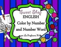 English Color By Number Printables, No Prep, No Fuss!One of my K-1 students math goals is to be able to read and write numbers as words.  I created this color by number word activity to help them achieve this goal, and at the same time they get to practice their colors and have fun doing it!
