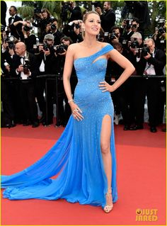 Blake Lively in Versace at Cannes Film Festival 2016