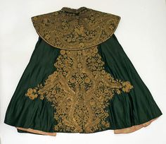 Cape (image 2) | Spanish | late 19th century | silk, metallic | Metropolitan Museum of Art | Accession #: C.I.56.6.2