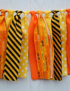 Think orange traffic cones and yellow caution signs: this construction bunting brings the colors and prints of a construction site to your next party. The bunting coordinates with any construction party printables or other decorations. Construction Theme Classroom, Under Construction Theme, Construction Bedroom, Construction Crafts, Construction Birthday Parties, Construction Party, Construction Business, Construction Design, Vbs Themes
