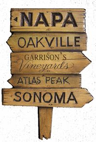 Napa Valley Road Sign personalized with your name