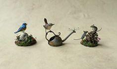 Lazuli Bunting, Wren and mice by Beth Freeman-Kane