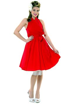 Folter Red Haute Wrap Dress - S-XL