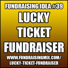 Host a ticket sale where every ticket is a winner! #fundraising #fundraiser #ideas #ticket #raffle