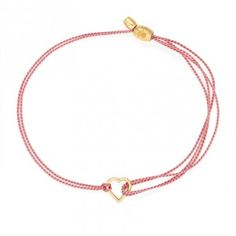 Alex and Ani partnering with (RED) for aids awareness *dark pink kindred cord with 14k gold plate heart