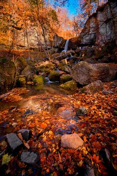 Waterfall in fall, colour my world