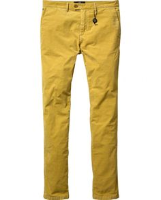 Bowie - Slim fitted rib cord/ spandex chino - Pants - Scotch & Soda Online Shop