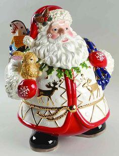 Christopher Radko Cookie Jar Timberland Santa - Boxed by Christopher Radko Santa Cookies, Cute Cookies, Holiday Cookies, Christmas Cookie Jars, Christmas Dishes, Christmas China, Jar Jar, Matcha, Antique Cookie Jars