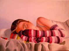 Self-portrait, acrylic on canvas, 50x70 cm