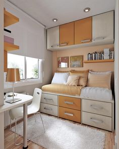 Lovely 23 Efficient And Attractive Small Bedroom Designs   Page 2 Of 4