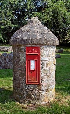 Post box. Postbox. Royal Mail. Letters. Happy Mail. Stamps. United Kingdom. Iconic. British.  Pillar Box. Mail.
