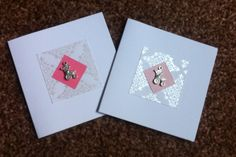 Silver christening cards