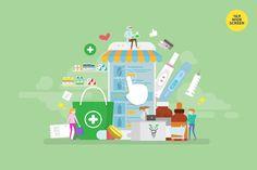 Online Pharmacy Store Vector Illustration Concept by alexacrib on Envato Elements Pharmacy Store, Online Pharmacy, Iphone Wallpaper Vector, Wall Text, Build An App, Ecommerce Website Design, Website Design Company, Vector Graphics, Motion Graphics