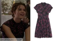 The Fosters: Season 1 Episode 21 Callie's Floral Printed Dress - ShopYourTv