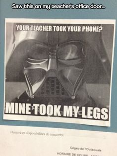 Your teacher took your phone