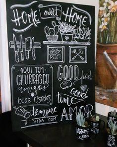 Blackboard Drawing, Chalkboard Wall Bedroom, Blackboard Wall, Chalk Wall, Chalkboard Lettering, Chalkboard Signs, Chalkboard Restaurant, Kitchen Chalkboard, Graffiti Lettering