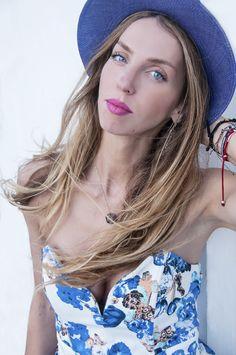 Hat on #blue #hat #sea #sun #summer #greek #fashionblogger #muserebelle