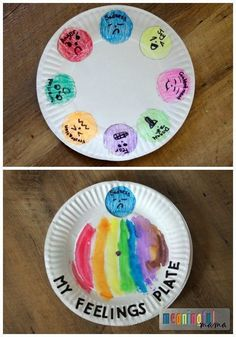 Feelings and Emotions Paper Plate Spinner