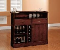Decorations:The Importance Of Furniture In Designing Small Bar For Home  Trendy Small Home Bar Design Inspiration Light Brown Laminate Wood Floor  Dark Brown ...