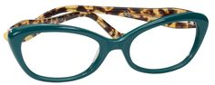 """Unicorn Ophthalmic-grade Reading Glasses with Case; Teal/blonde Tokyo Tortoise  PRODUCT DESCRIPTION You are magic!  You're the essence of that mythalogical and rare creature, the unicorn.  """"Rare"""" describtes you well, as does your designer eyewear.  ."""