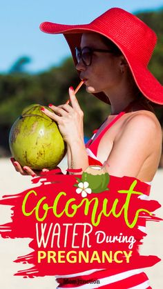 Drinking Coconut Water During #Pregnancy: 12 Benefits & 3 Myths : #Coconut water is an energizing, sweet, and clear isotonic drink which helps your body in replenishing the lost fluids.