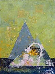 Abstract Oil Painting - Urban Pyramids - Gardening – canvas 18x24in; approx. 45x60cm by ARcoTexturePaintings on Etsy