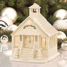 LENOX Figurines: Christmas - Lenox Village Lighted Schoolhouse