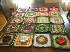 Ravelry: Jitterie's Radiantly Jitterie Squares Made