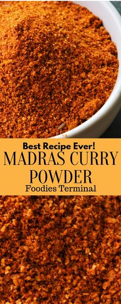 Madras Curry Powder Recipe made with whole spices at home. The post contains amazing tips, Video, how tos' don't miss this Homemade Madras Curry Powder Recipe. Masala Powder Recipe, Masala Recipe, Salmon Curry, Chinese Five Spice Powder, Madras Curry, Masala Spice, Tandoori Masala, Indian Food Recipes, Easy Recipes