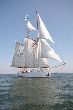 ELBE N°5 pilot schooner German boat. Nordsee