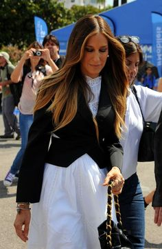 SJP's ombre hair color