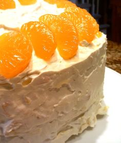 South Your Mouth: Mandarin Orange Cake. My grandmother used to make this. Perfect for a summer or Easter outdoor gathering.