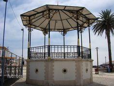 Reanimar os Coretos em Portugal: Nazaré Spain And Portugal, Positano, Portuguese, Wonderful Places, Fair Grounds, Patio, Kiosk, Country, Terra