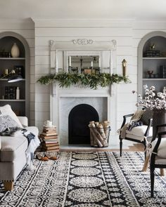 60 Modern Farmhouse Living Room For First Apartment Ideas Decor And Makeover – Home Design Cozy Living Rooms, Home Living Room, Living Room Designs, Living Spaces, Coastal Living, Living Room Area Rugs, Fixer Upper Living Room, Country Living, Diy Projects Living Room