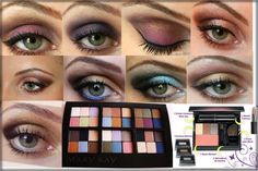 Mary Kay eyeshadow ideas! <3 You can get all this and more on my website - www.marykay.com/GSpann14