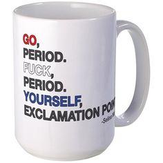 VEEP: Go Period! Large Mug on CafePress.com