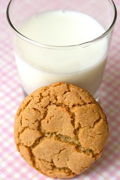 Chewy Peanut Butter Cookies:  3 cups all-purpose flour  1 cup sugar  1½ tsp.baking soda  1 tsp. baking powder  ½ tsp.salt  ¼ cup vegetable shortening  4 tbsp. unsalted butter, at room temperature  1 cup creamy peanut butter  1 cup honey  2 large eggs  Sugar, for rolling the cookies