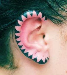 The simplicity of this design makes it even cooler. #InkedMagazine #ear #tattoo #tattoos #Inked #cool