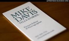 letterpress business cards - Google Search