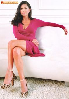 Catherine Zeta-Jones in a sexy red dress.