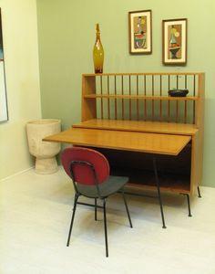 raymond loewy cabinet Danish Furniture, Vintage Furniture, Danish Modern, Midcentury Modern, Vintage Table, Vintage Decor, 1960s Home Decor, Raymond Loewy, Mid Century Desk