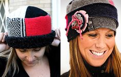 and an Upcycled hat for next winter...added to my list!