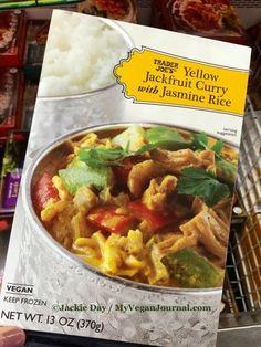 Yellow Jackfruit Curry with Jasmine Rice at Trader Joe's!