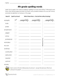 5 Worksheets Grade Spelling Words List 22 Of 36 Free printable Worksheets word lists and activities √ Worksheets Grade Spelling Words List 22 Of 36 . 5 Worksheets Grade Spelling Words List 22 Of Free Printable Worksheets Word Lists and Activities 5th Grade Worksheets, Spelling Worksheets, Spelling Activities, Reading Worksheets, Printable Worksheets, Free Printable, Kindergarten Worksheets, Homeschool Worksheets, Addition Worksheets