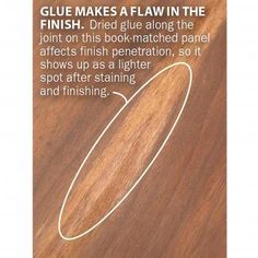 Want to achieve a finish that not only looks like glass, but feels that way too? Try filling the grain first.