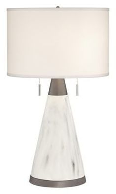 Pacific Coast® Lighting Kathy Ireland Home® Faux Marble Cone Table Lamp in Antique Brass #affiliate